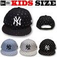 【サイズ調整可能なキッズ&レディース用小さいサイズ!】NEW ERA KIDS YOUTH 9FIFTY STAR DOTS SNAPBACK CAP【ニューエラキッズ サイズ 帽子】NEWERA 子供サイズ ニューエラ キャップ キッズ ヤンキース キッズサイズ スナップバック ニューエラ キッズ
