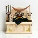 伊達政宗【コンパクト 兜飾り】五月人形 木製兜 小さい ミニ 木製 兜平飾り 木