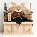織田信長【コンパクト 兜飾り】五月人形 木製兜 小さい ミニ 木製 兜平飾り 木