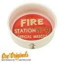 OREオリジナル【O.R.E Originals】ノスタルジア・ペットカフェコレクション セラミック製フードボウル(Fire Station No. 9)【メール便/定形外郵便不可】