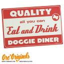★ O.R.E Originals【OREオリジナル】★アメリカンレトロ風食事用マット・ランチョンマット(Diner Dog)【メール便/定形外郵便不可】