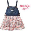 OshKosh【オシュコシュ】フワフワスカートがラブリー♪デニム&ティアードスカート(フローラル)