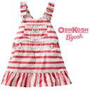 \セール/OshKosh【オシュコシュ】お洒落な裾フリル切替♪キャンパス地ジャンプスカート(ボールドストライプ) feb19_sps