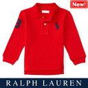 ラルフローレン【Ralph Lauren】メッシュ生地長袖ポロシャツ(レッド)【あす楽対応】