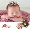 楽天米国ベビー用品 バーブーベビーThe Daisy Baby【デイジーベビー】ベビーとの思い出に残る記念写真にピッタリ。重量感のある王冠ティアラ(コレクションNo.3001)