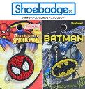 【シューバッジ】【ラインストーン】 スパイダーマン バットマン shoebadge SPIDER-MAN Batman キッズシューズ パンソンワークス crocs クロックス ジビッツ アメイジング・スパイダーマン アメコミ ピーター ステーシー バッドマン Marathon05P02feb13