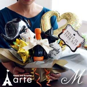 バルーン アレンジ ウエディング クリスマス プレゼント シャンパン スパークリ