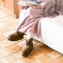 ベルトが付いてフィット感アップ!足首、足先まで冷え取り あったか ヘヴンリー ダウン ルームブーツ(ショート丈)羽毛 ルームシューズ/日本製/冬の部屋履き/防寒/冷房対策【あす楽対応】
