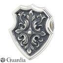 Guardia【ガルディア】シルバー ピンバッジ Crossed Acanthus エンブレム メンズ ATBC-003SV