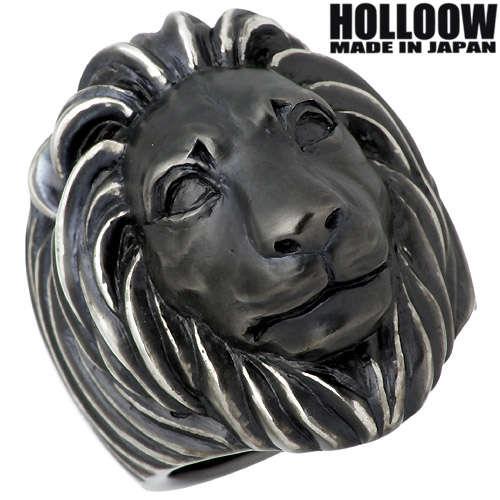HOLLOOW 【ホロウ】 ドミニオンズ ライオン シルバー リング ブラックコーティング 獅子 10~25号 指輪 シルバーアクセサリー シルバー925 【送料無料】 HOLLOOW ホロウ ドミニオンズ ライオン シルバー リング ブラックコーティング 獅子