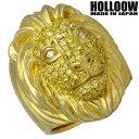 ショッピング HOLLOOW 【ホロウ】 セラフィム ライオン シルバー リング ゴールドコーティング キュービック 獅子 10〜25号 指輪 シルバーアクセサリー シルバー925