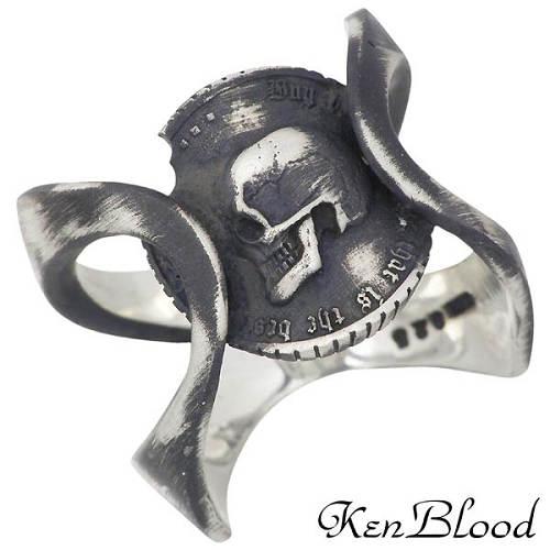 KEN BLOOD 【ケンブラッド】 プライド シルバー リングA スカル コイン 指輪 19~25号 シルバーアクセサリー シルバー925 【送料無料】 KEN BLOOD ケンブラッド プライド シルバー リングA スカル コイン 1