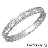 Lovers & Ring 【ラバーズリング】 K10 ホワイトゴールド ダイヤモンド リング 指輪 5〜23号 刻印可能