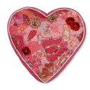 COLORIQUE/カラリクビンテージサリーハート♡クッション(ラズベリー)【Bindi Filled Heart Cushion 】【RCP】