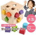 型はめ はめこみ おもちゃ 知育 パズル ボックス 色落ちしないカラフルな 木製 大きめ ブロック 積み木 で たのしく色彩感覚や立体感覚を身につけちゃおう か...