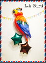 バルーン 記念日 サプライズ オリジナル 電報 装飾 プレゼント メッセージ 名入れ 文字入れ おしゃれ ギフト バースデー アート出産祝い 開店祝い お祝い パーティ 風船 バルーン ギフト ファンキーなオウム!LAバードSET