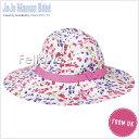 ショッピングママン 英国発*JoJo Maman Bebe(ジョジョママンベベ)【Floppy Sun Hat】小花柄サンハット(ピンク系)サイズ:6-12ヶ月【あす楽対応】【出産祝い】女の子