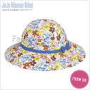 ショッピングママン 英国発*JoJo Maman Bebe(ジョジョママンベベ)【Floral Floppy Sun Hat】小花柄サンハット(オレンジ×イエロー系)サイズ:6-12ヶ月【あす楽対応】【出産祝い】女の子