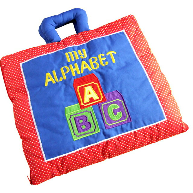 Cloth toys, cloth book my alphabet (red) fun and friendly letters to learn! Girls boys