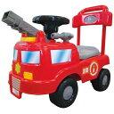 乗用玩具 消防車 足けり乗用玩具 押し車 子供用 レッド【永和】