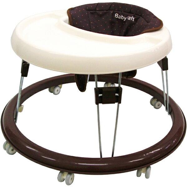 シンプルウォーカーブラウン歩行器赤ちゃん幼児ベビーウォーカー折りたたみシンプル丸型永和