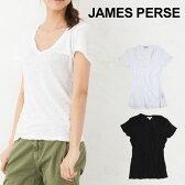 【7,000円以上で5%オフクーポン!】 【メール便送料無料】 ジェームスパース Tシャツ カジュアル tシャツ JAMES PERSE CASUAL TEE REVERSE BINDING TEE Tシャツ 2015夏入荷! vネック レディース 人気型
