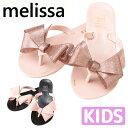 【全品15 オフクーポン】 Melissa メリッサ ラバーシューズ 靴 サンダル キッズ melissa Mel Harmonic Bow サンダル