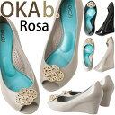 オカビー パンプス OKA b. Rosa ローザ OKA b. ヒール 靴 ラバーシューズ 歩きやすい 疲れにくい ビーチ リゾート レインシューズ レディース