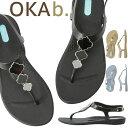 ショッピングオカビー オカビー OKA b. リロ Tストラップ Lilo T-Strap Sandal サンダル トングサンダル 靴 ビーチサンダル 歩きやすい 疲れにくい フラットシューズ ビーチ リゾート ギフト ビーチサンダル
