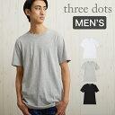 Three Dots Tシャツ スリードッツ メンズ Tシャツ Three Dots SHORT SLEEVE CREW TEE [BO1C645] カットソー 半袖 【メール便】
