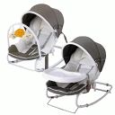 White [03809] with Cato diNew York Baby New York baby baby bouncer DX table