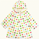 Miki house first colorful waterdrop baby bathrobe [40-3807-565]