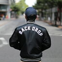 【BACKDROP x STARTER】(別注スターター) TEAM JACKET (BLACK:ブラック) チームジャケット スタジャン メンズ アメカジ 渋谷 バックド..