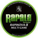 ラパラ  ラピノヴァX マルチゲーム 1.0号 20.8lb 200m ライムグリーン RLX200M