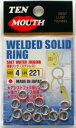 TEN MOUTH テンマウス WELTED SOLID RING 溶接リング【メール便可】