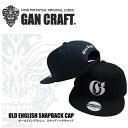 【予約受付中】 ガンクラフト オールドイングリッシュスナップバックキャップ GAN CRAFT OLD ENGLISH SNAPBACK CAP