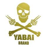 YABAI BRAND ヤバイブランド ドクロカッティングステッカー 【2】【メール便可】