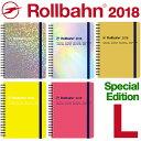 ロルバーン 2018 ダイアリー 手帳 L ホログラム メタリック ネオン 2017年10月はじま