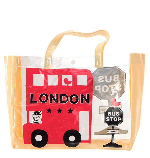 プールバッグニコフラートnicohratビーチバッグ女の子男の子キッズ通販子供ロンドンバスおけいこバ