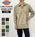 ワークシャツ Dickies ディッキーズ 通販 メンズ 作業着 作業服 長袖 オープンシャツ ロングスリーブ 無地 シンプル 仕事 メンズシャツ 普段着 おしゃれ ボタン ワンポイント カジュアル デイリー トップス