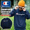 再入荷です!! Champion チャンピオン トレーナー クルーネック ベーシック スウェット C3-H004 紺 ネイビー ストリート系 メンズ ファッショ...