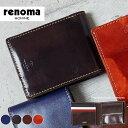 二つ折り財布 メンズ レザー 革 レノマ renoma ルー...