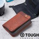二つ折り財布 メンズ TOUGH タフ 財布 縦型 レザーウォッシュ LEATHER WASH 55561 革