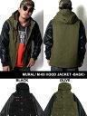 ミューラル MURAL ミリタリー フード ジャケット アウター フェイクレザー 定番 ブラック オリーブ M-65 HOOD JACKET -BASIC- -...