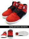 スープラ SUPRA スニーカー シューズ 靴 スケシュー ストリート スケート スケボー セレブ 人気 メンズ SKYTOP III -RED×WHITE-