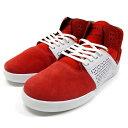 スープラ SUPRA スカイトップ3 スニーカー 靴 スケシュー 赤/白 ストリート スケート スケボー メンズ SKYTOP III -RED×WHITE-