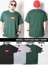 ミューラル MURAL ヘリテイジ ボックス Tシャツ HERITAGE BOX T-SHIRT 半袖 ショートスリーブ ロゴ メンズ S-XXL ブラック/ホワイト/グレー/フォレスト