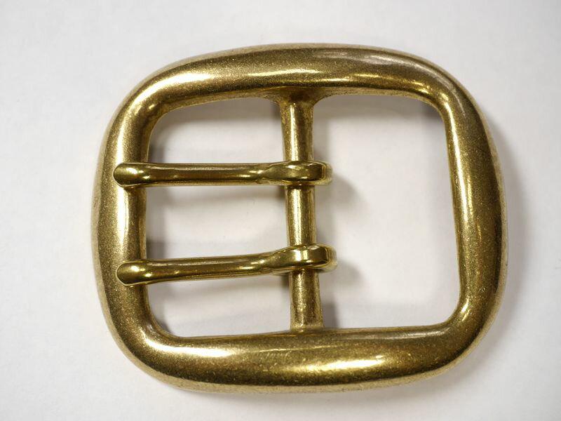 真鍮無垢 ベルト幅40mm用 ダブルピンバック...の紹介画像2