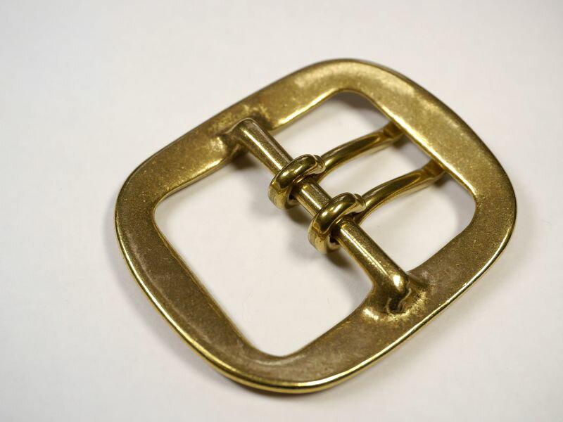 真鍮無垢 ベルト幅40mm用 ダブルピンバック...の紹介画像3