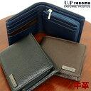 二つ折り財布 メンズ 牛革/U.P renoma (ユーピー...